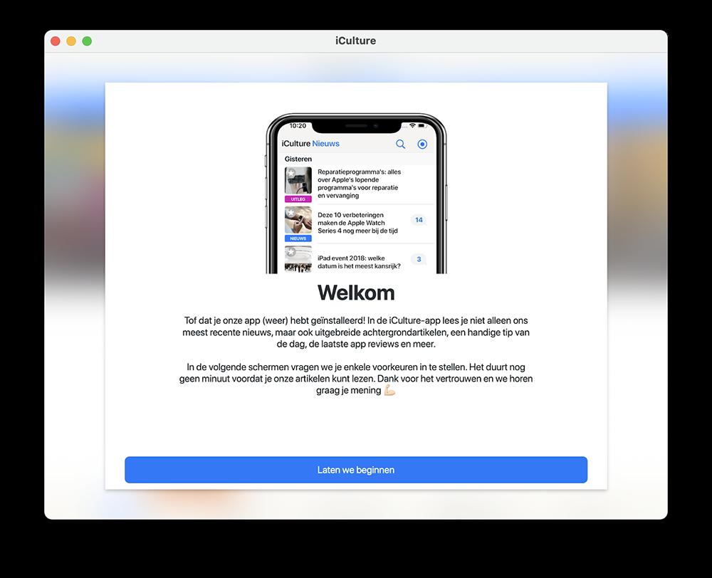 iCulture-app op Mac M1
