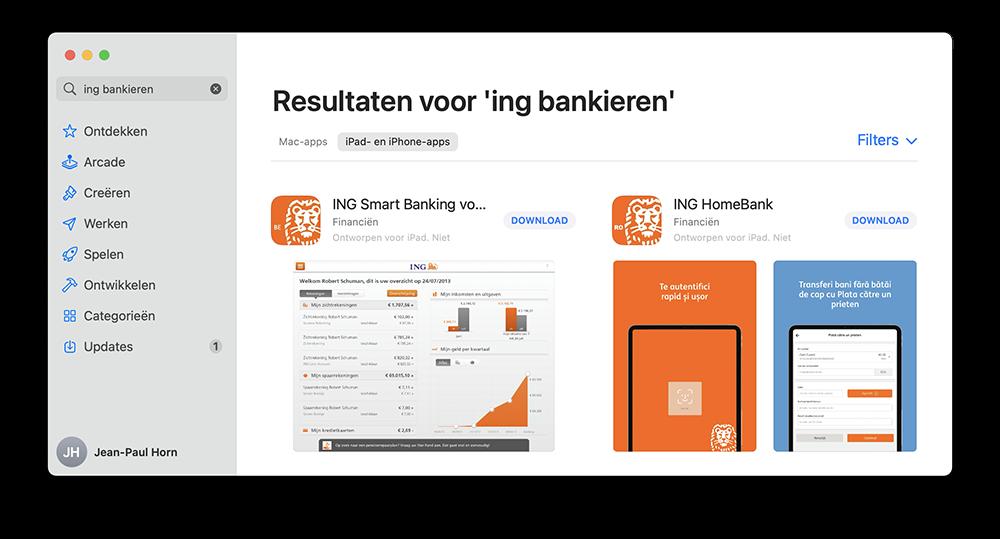 ING Bankieren niet voor M1 Mac