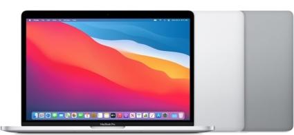 MacBook Pro 13-inch 2020 in beschikbare kleuren.