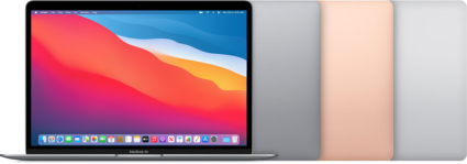 MacBook Air 2020 kleuren.