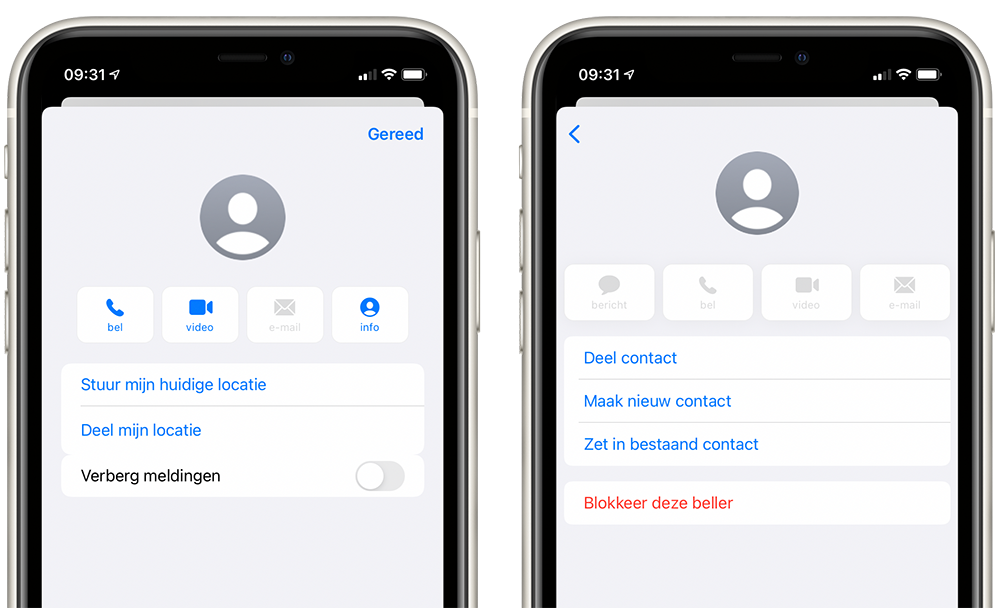 iMessage contact blokkeren
