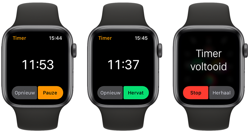 Timer op Apple Watch