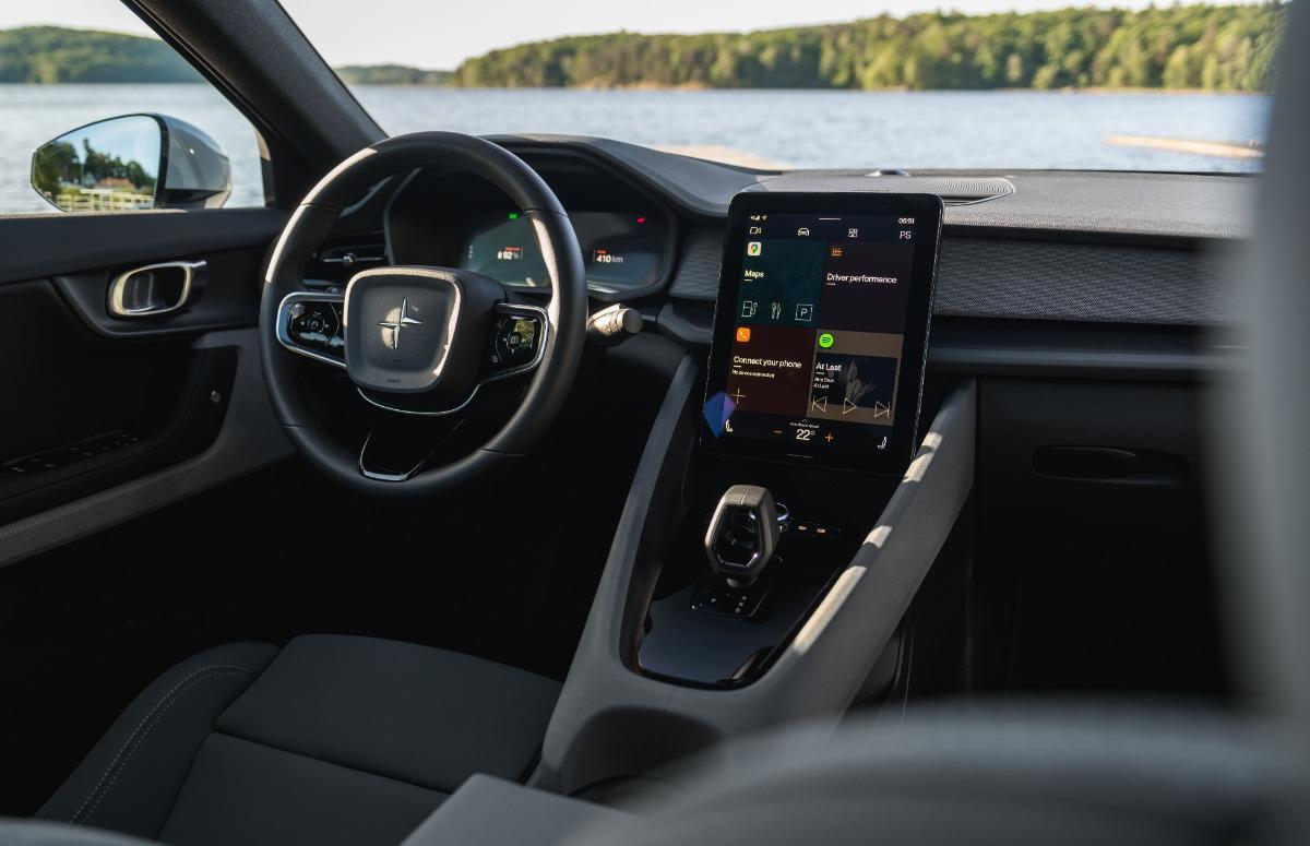 Android Automotive op het dashboard