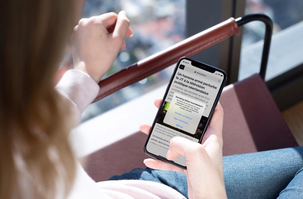 Website vertalen met Safari op de iPhone.