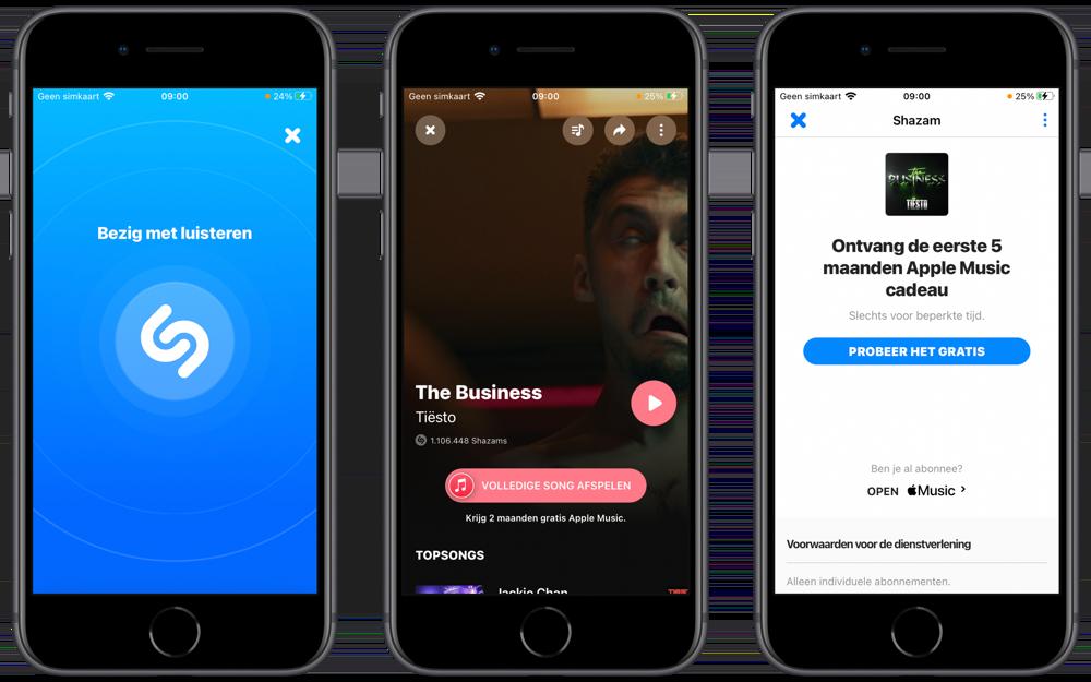 Gratis Apple Music via Shazam.