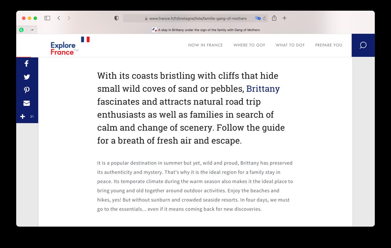 Websites vertalen in Safari voor Mac