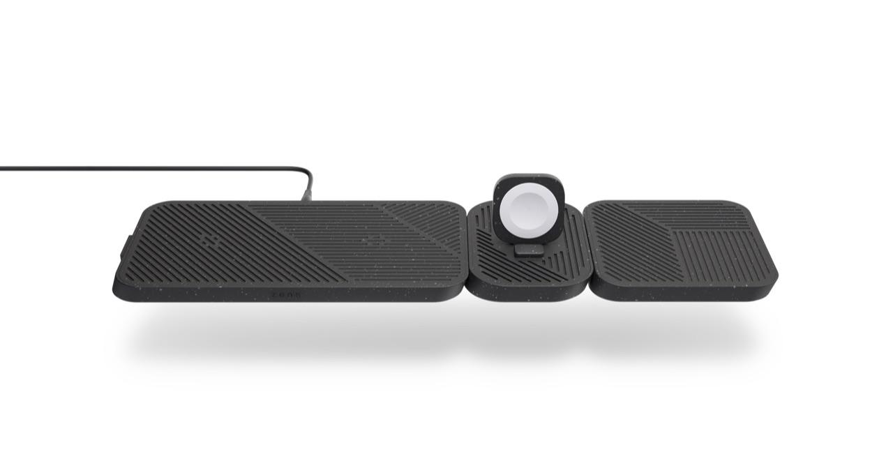 Zens Modular oplaaddock met dubbele oplader en Apple Watch.