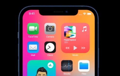 iOS 15 concept met interactieve widget.