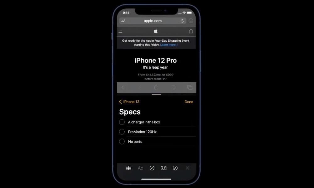 iOS 15-concept met Split View.