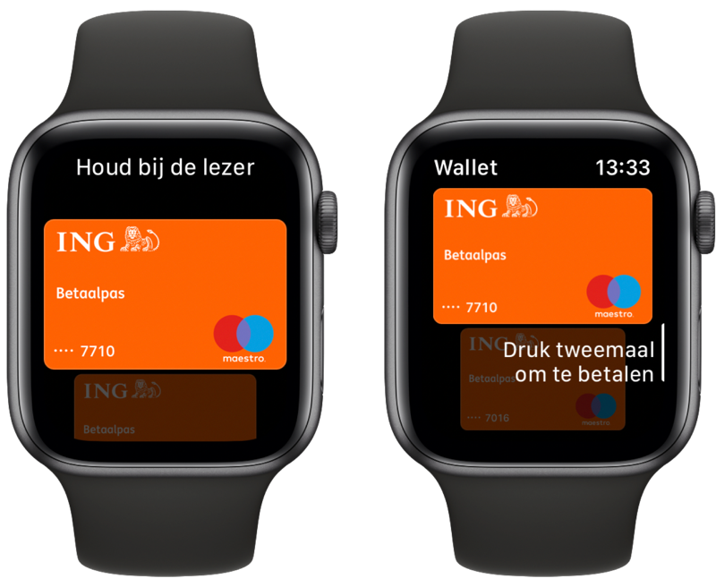 Apple Pay gebruiken op de Apple Watch.