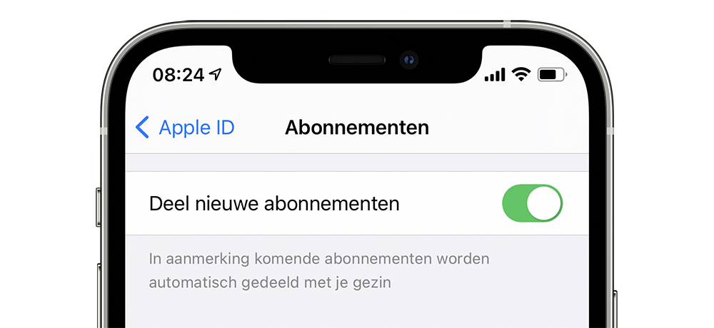 In-app abonnement delen