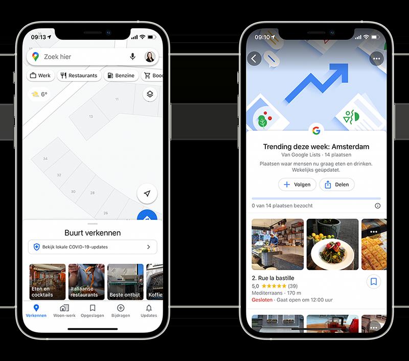 Google Maps najaar 2020