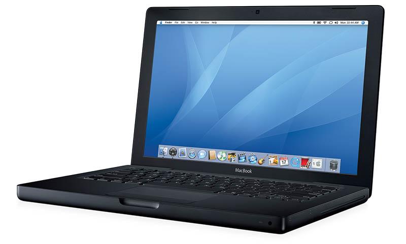 Zwarte macBook uit 2006