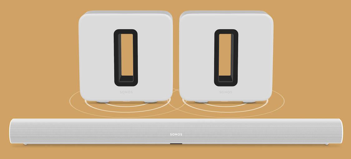 Twee Sonos Subs voor je thuisbioscoop