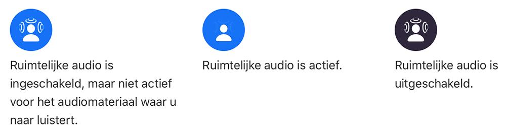 Ruimtelijke audio iconen