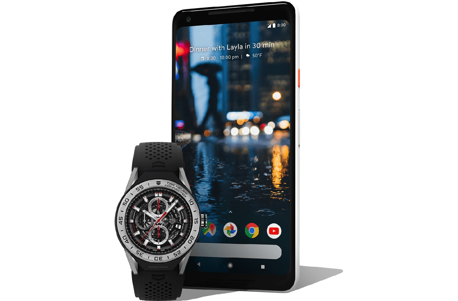 Wear OS smartwatch met Android-toestel