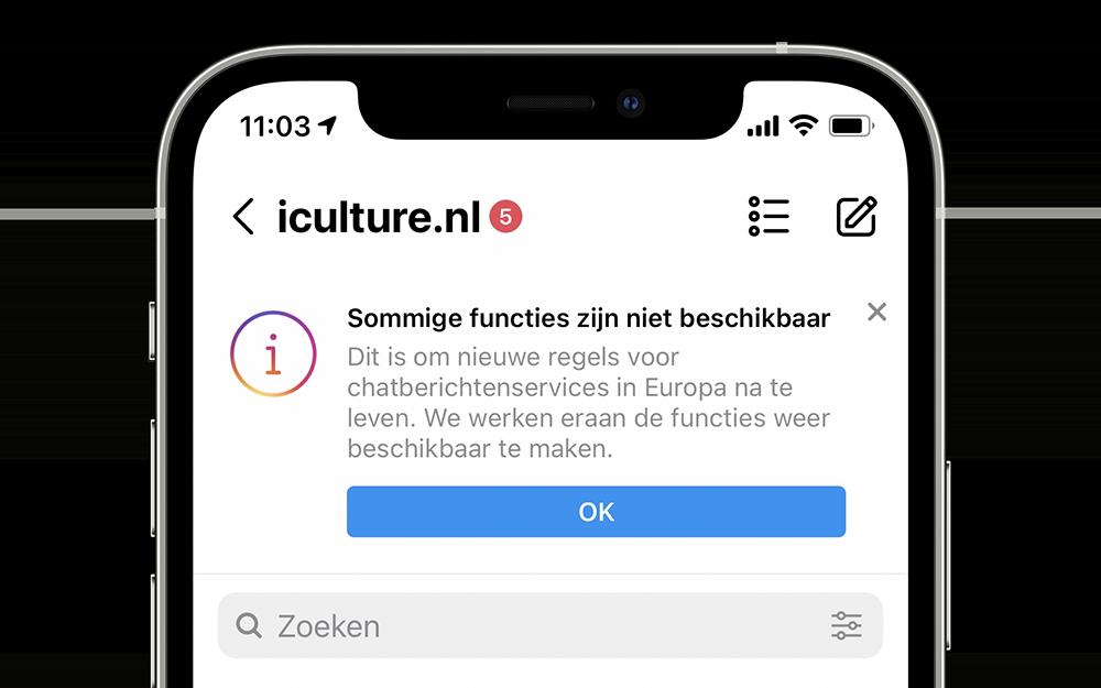 Instagram-functies niet beschikbaar