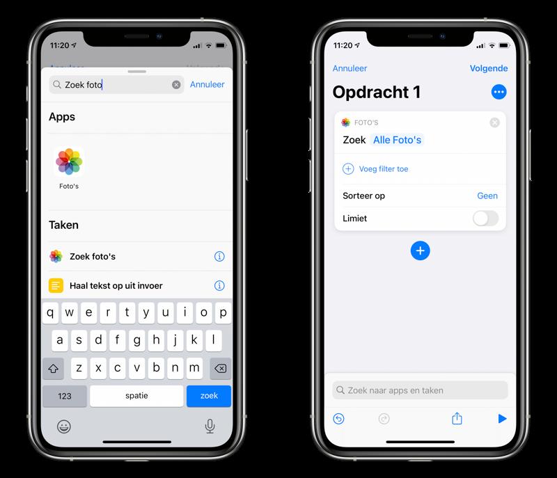 Automatisch iPhone achtergrond aanpassen via shortcut.