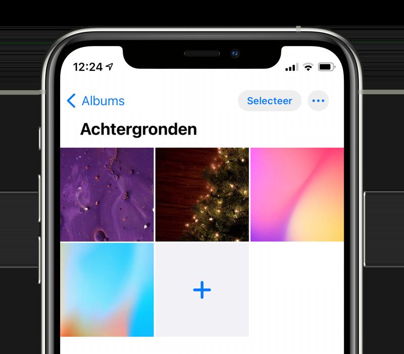 iPhone fotoalbum met wallpapers maken.