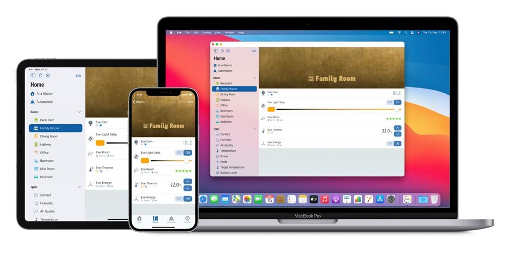 Eve-app 5.0 voor HomeKit nu ook op Mac.
