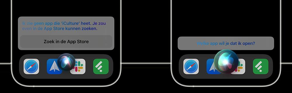 Apps openen met Siri