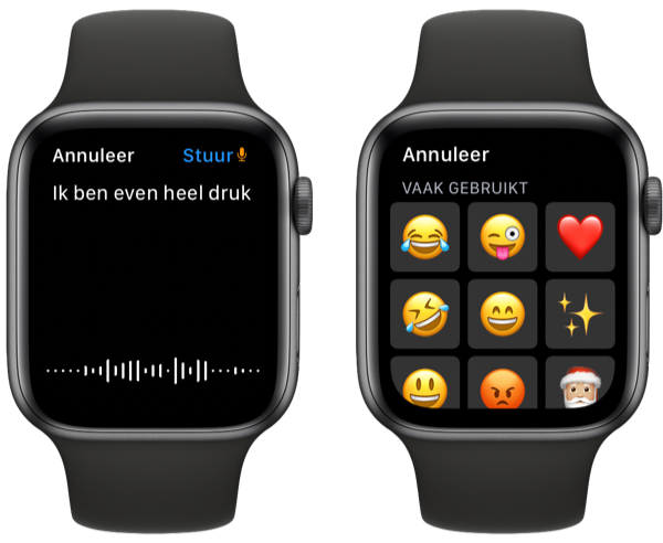 Antwoorden op WhatsApp met Apple Watch