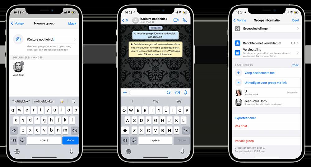 WhatsApp als persoonlijk notitieblok