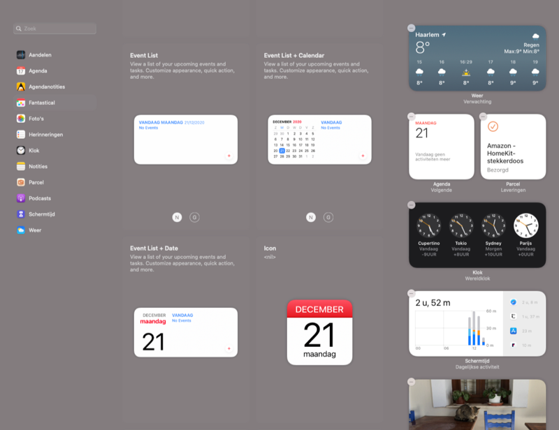 Fantastical voor Mac met widgets.