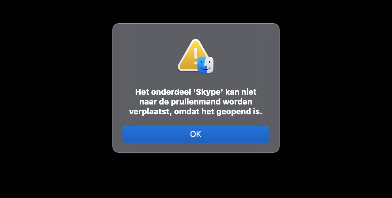 Kan Mac-programma niet verwijderen