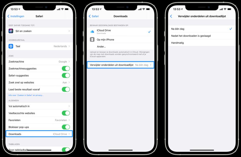 Pas uw recente iPhone-downloadlijst aan