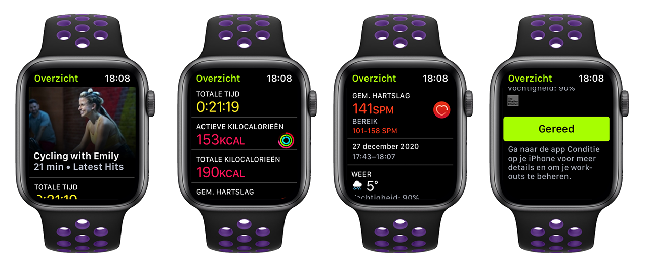 Fitness+ workout afgerond op Apple Watch
