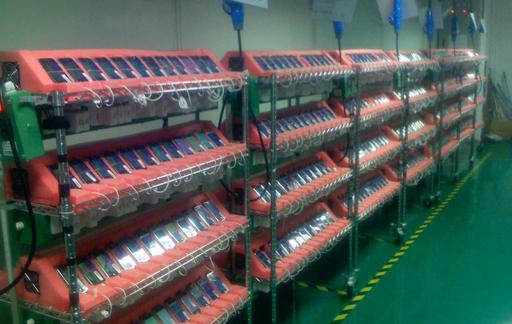 iPhone productielijn in 2007