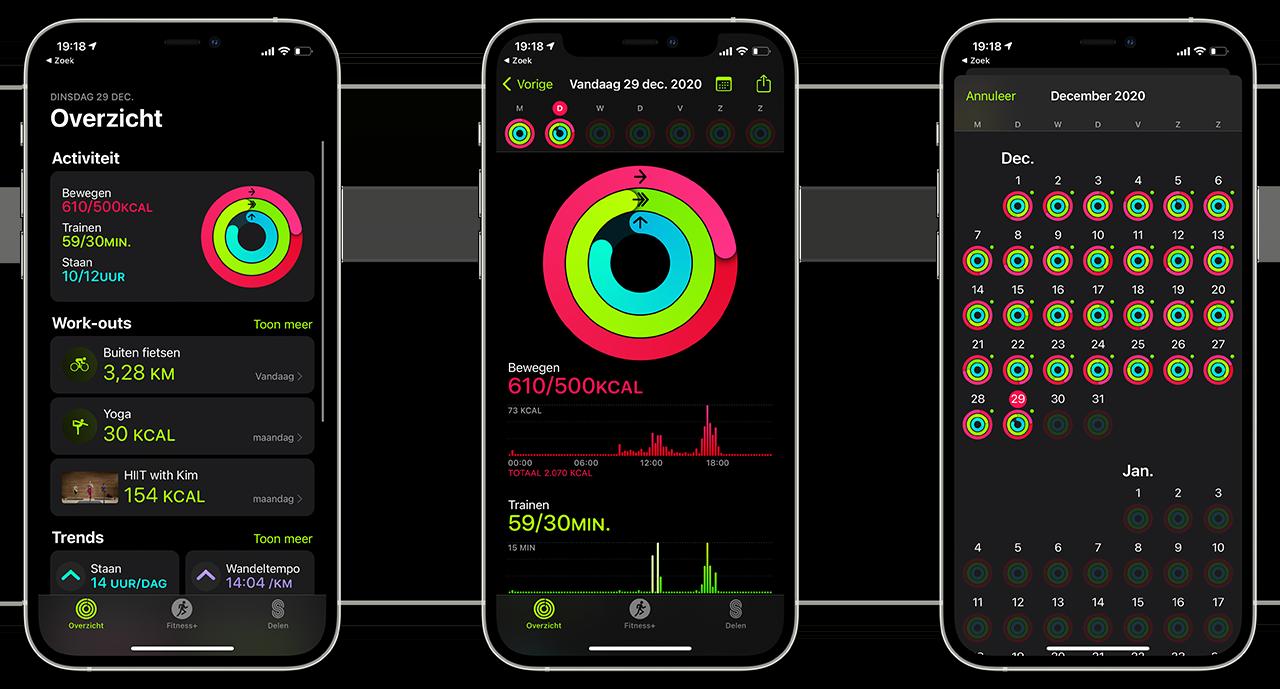 Activiteiten in de Conditie-app
