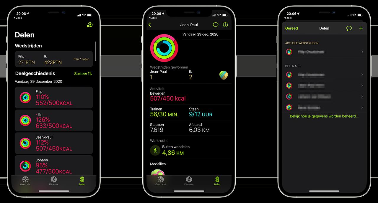 Conditie-app: data delen