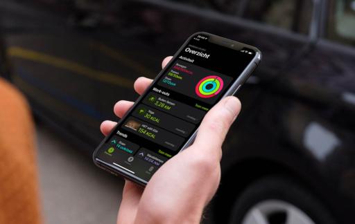 Conditie-app op iPhone