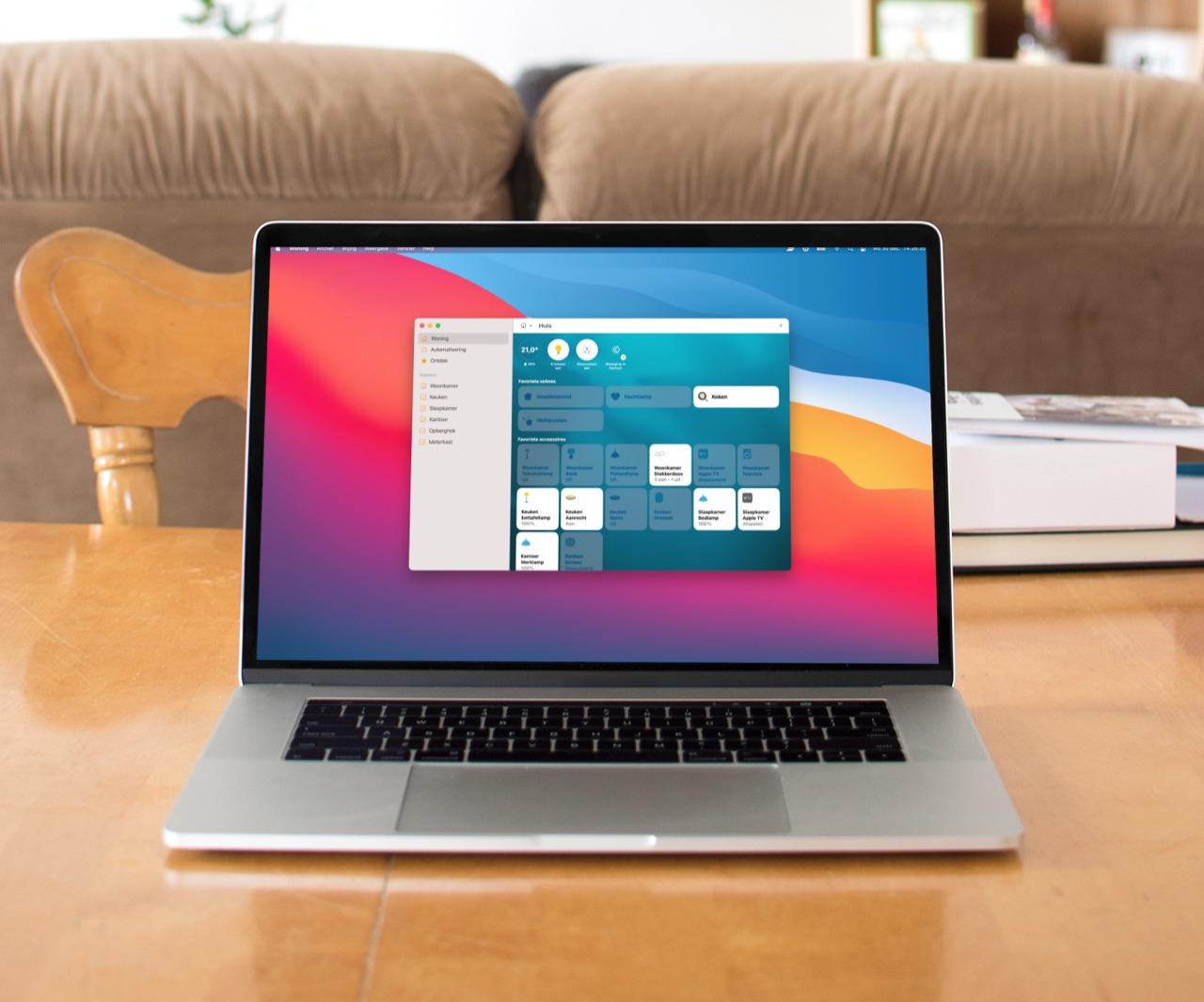 HomeKit op de Mac met Woning-app.