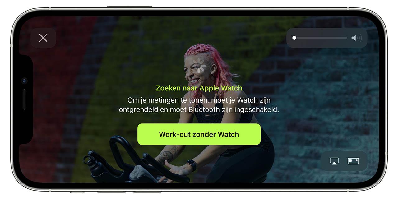 Fitness+ zonder Apple Watch
