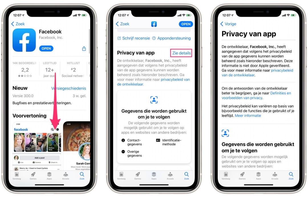 Zo bekijk je privacylabels van apps