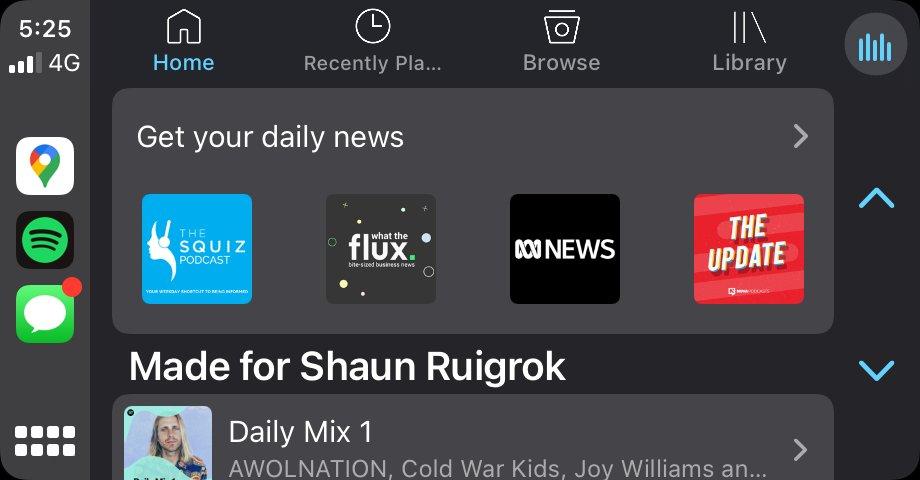 Spotify komt met een persoonlijker homescreen in CarPlay.