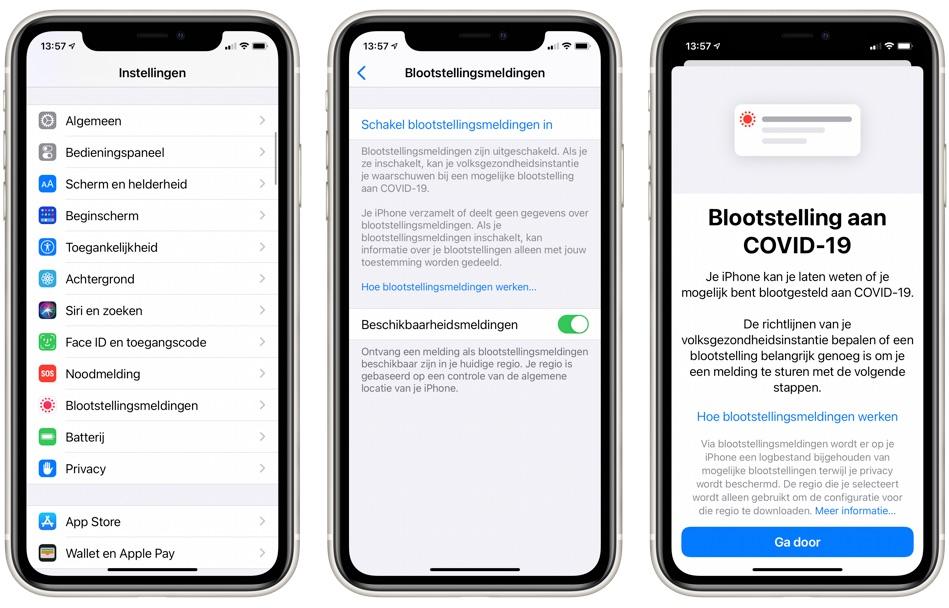 Apple heeft Blootstellingsmeldingen toegevoegd