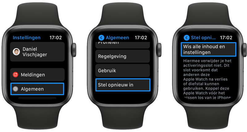 Apple Watch fabrieksinstellingen zonder iPhone