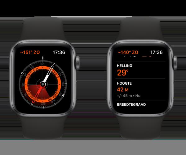 Apple Watch hoogte bekijken