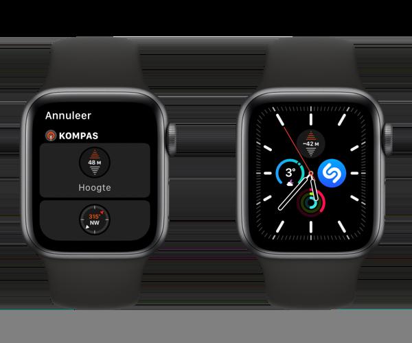 Apple Watch hoogte complicatie op wijzerplaat