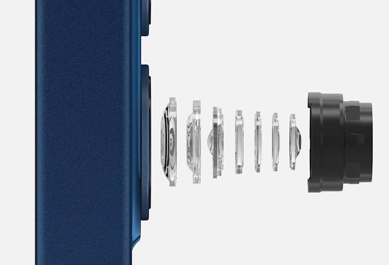 iPhone 12 cameralens met elementen