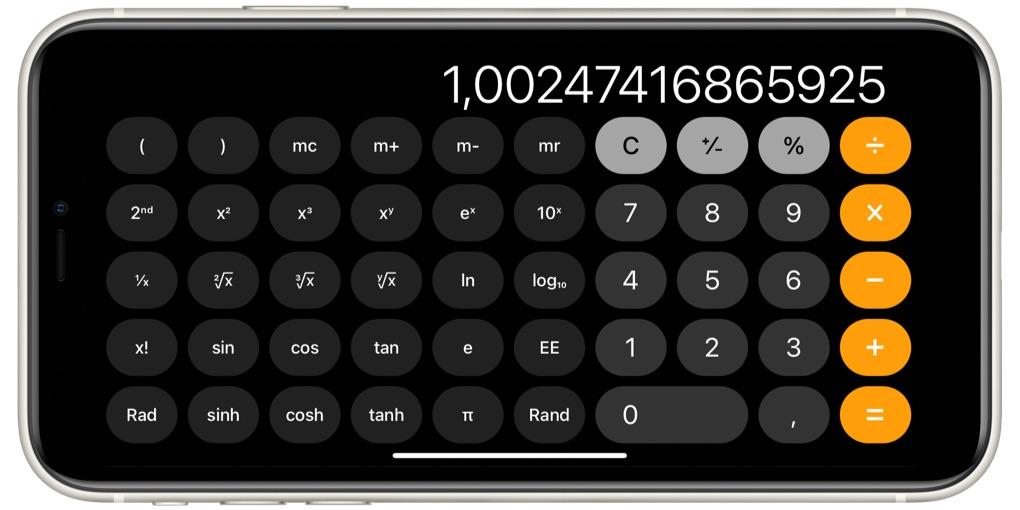 De rekenmachine van Apple