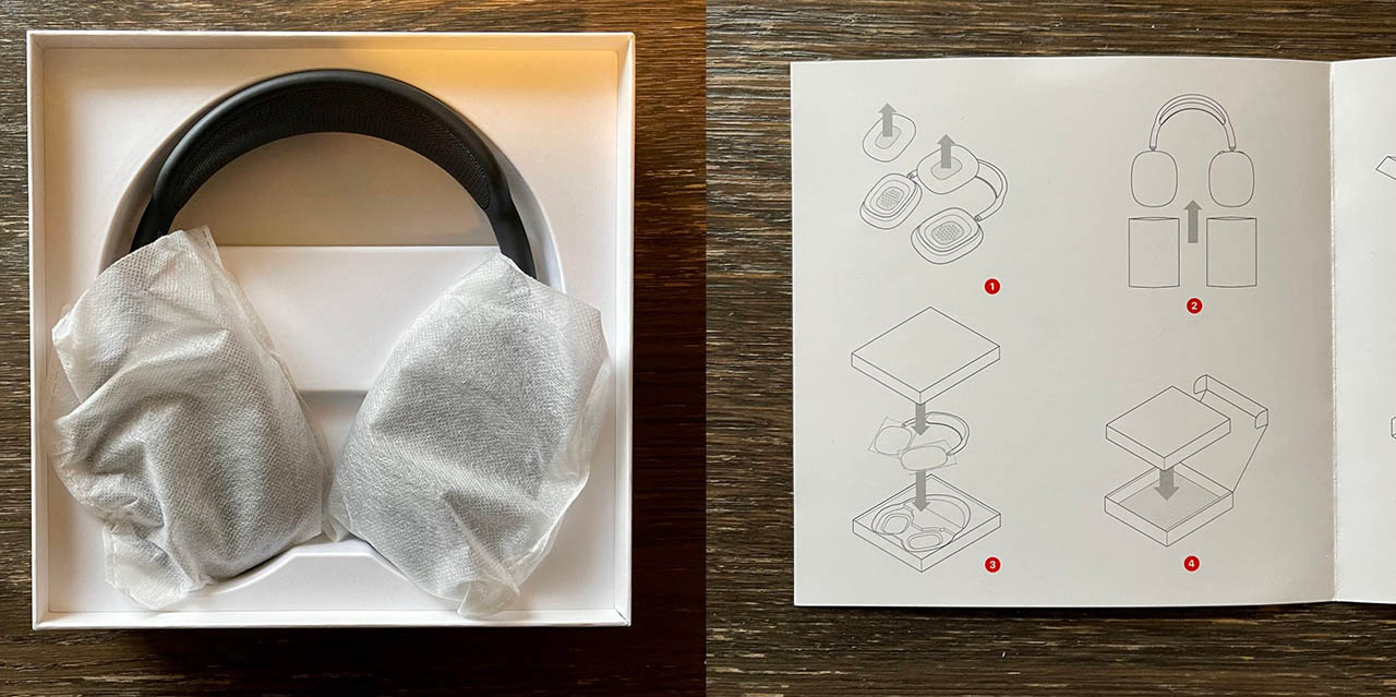 AirPods Max vervanging zonder oorkussens