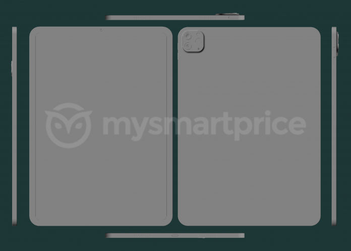 iPad Pro 2021 schematische CAD-tekeningen 11-inch versie.