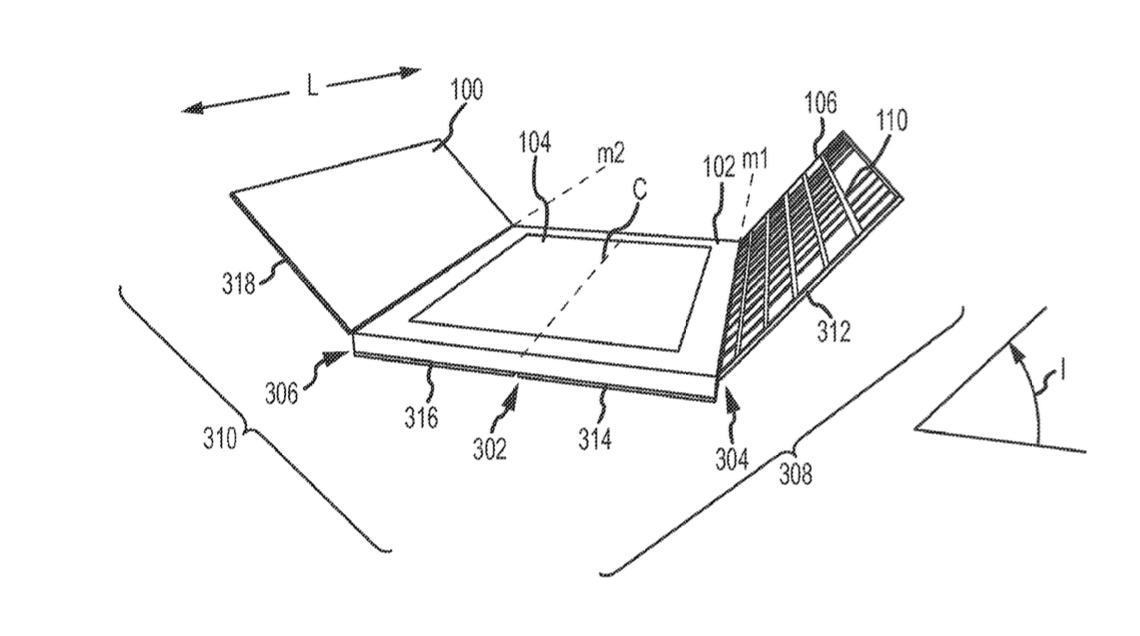Patent Smart Keyboard gevouwen