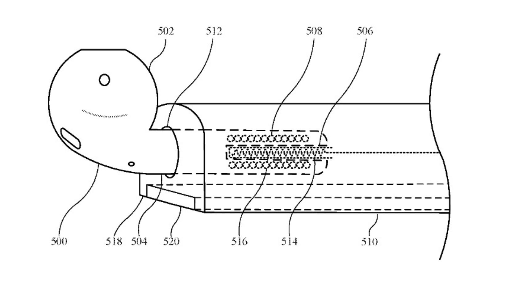Oplaadmechanisme patent AirPods hoesje iPhone