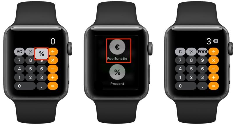 Fooifunctie aanzetten Apple Watch.